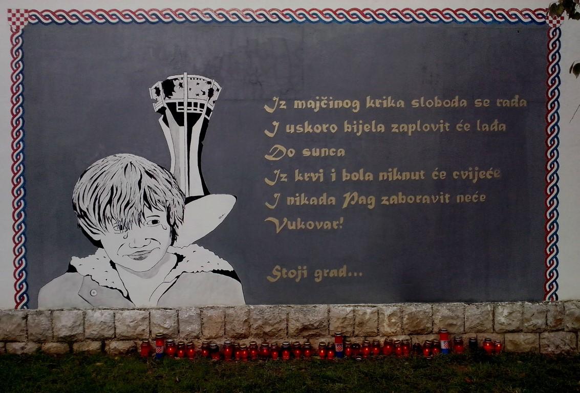 Sje anje i po ast vukovaru grad pag for Mural u vukovarskoj ulici
